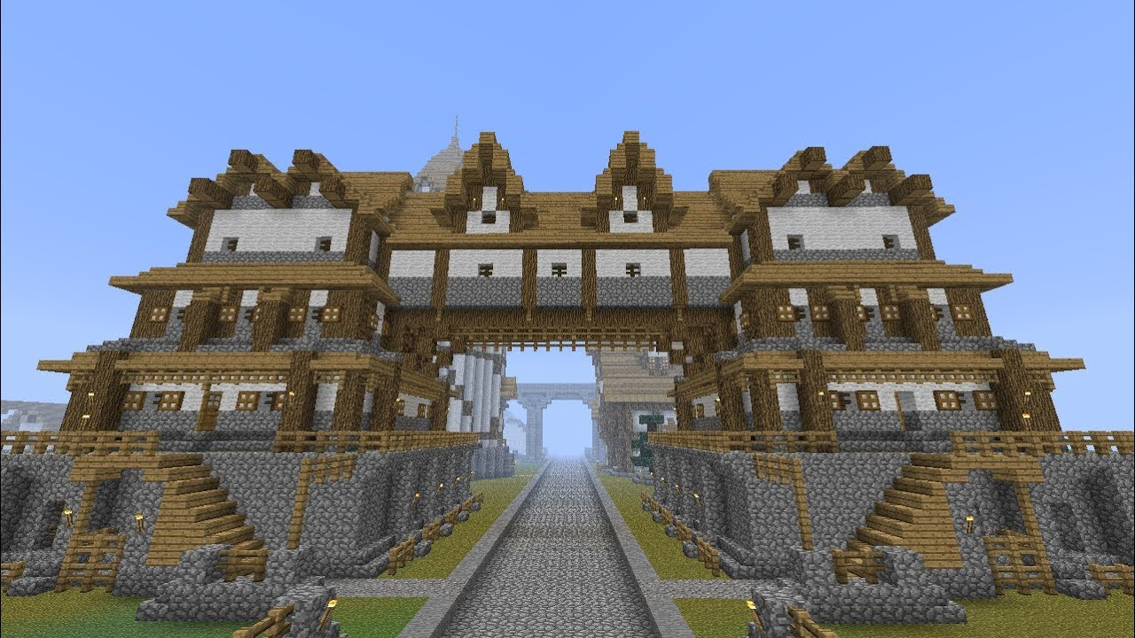 Minecraft: Medieval Huge Building / Home Tutorial [part ...