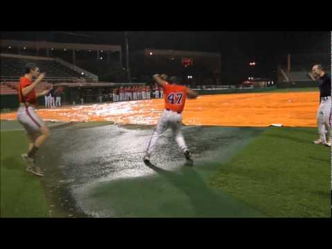 Clemson Baseball vs Davidson Rain Delay Pooka Dance