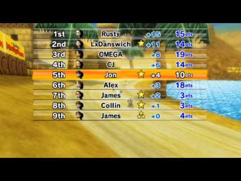 Mario Kart Wii - - Online Races 195: New Super Mario Bros. Wii Cup I