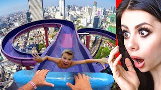 Funniest WATER SLIDE Fails !
