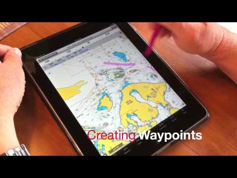 iNavX-Creating Waypoints and Making Routes