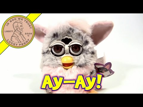 Furby Gray With Pink. 1998 Tiger Electronics - Our Furby has a Cold or Allergies!