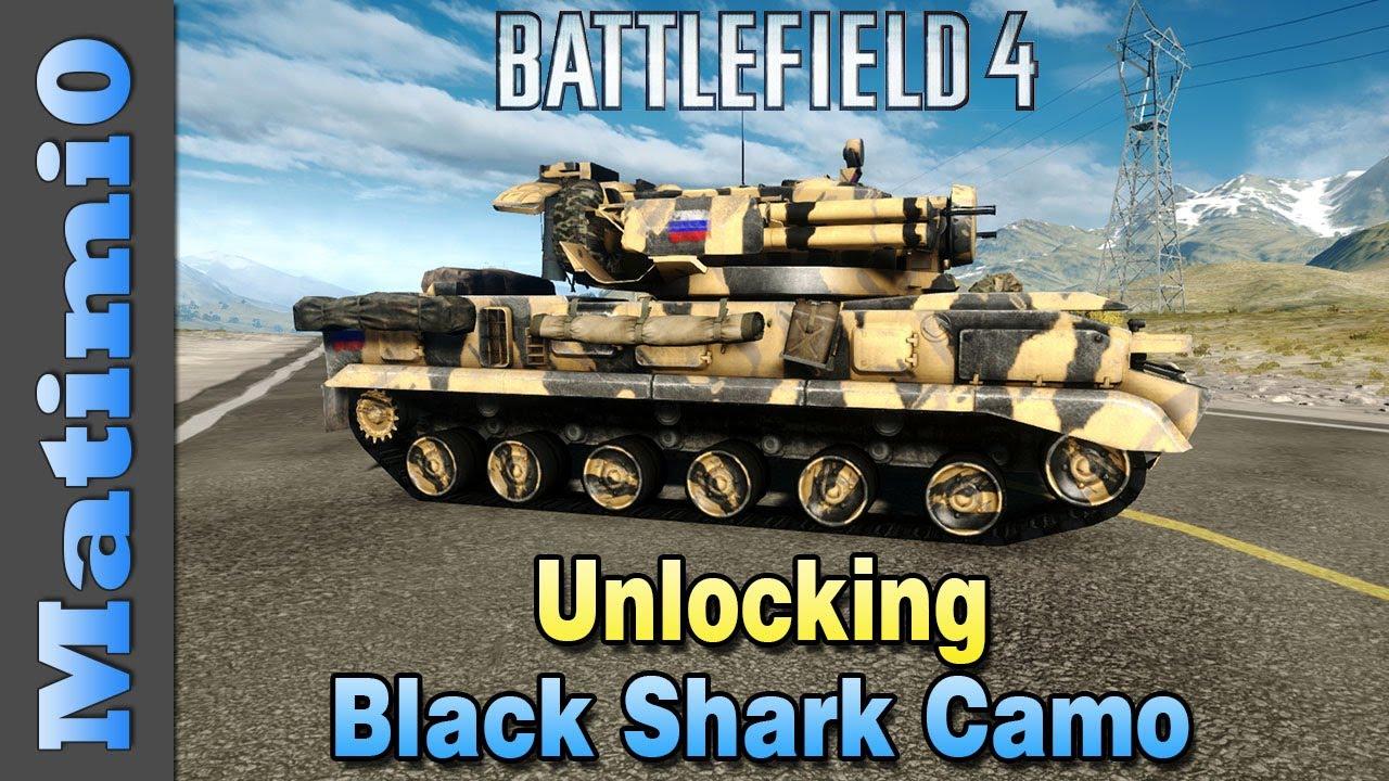 Black Shark Camo Bf4 Unlocking Black Shark Camo