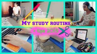 My study routine + tips 2015