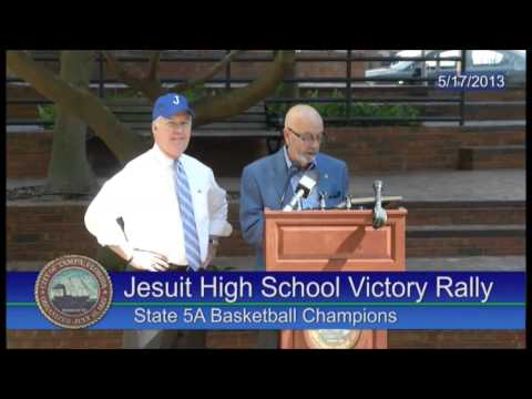 Jesuit High School (Tampa), 2013 state champion basketball team honored by Mayor Buckhorn on 5-17-13