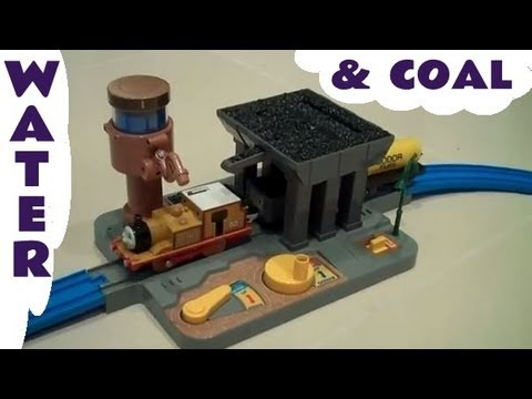 Tomy Tomica Plarail Thomas And Friends Coal Loader & Water Tower & Stepney Kids Toy Train Set