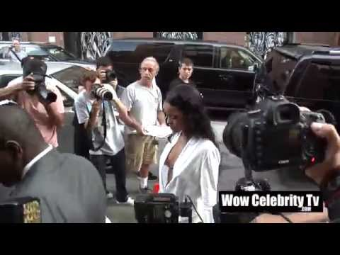 Rihanna Spotted all around New York City for Fashion Week