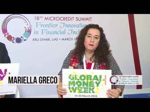 Global Money Week at the 18th Microcredit Summit with Mariella Greco