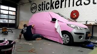 Full Colour Car Wrap Candy Pink Hyundai i10