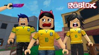 Roblox - FUGINDO DO MURDER EM FAMÍLIA (Murder Mystery 2) | Luluca Games