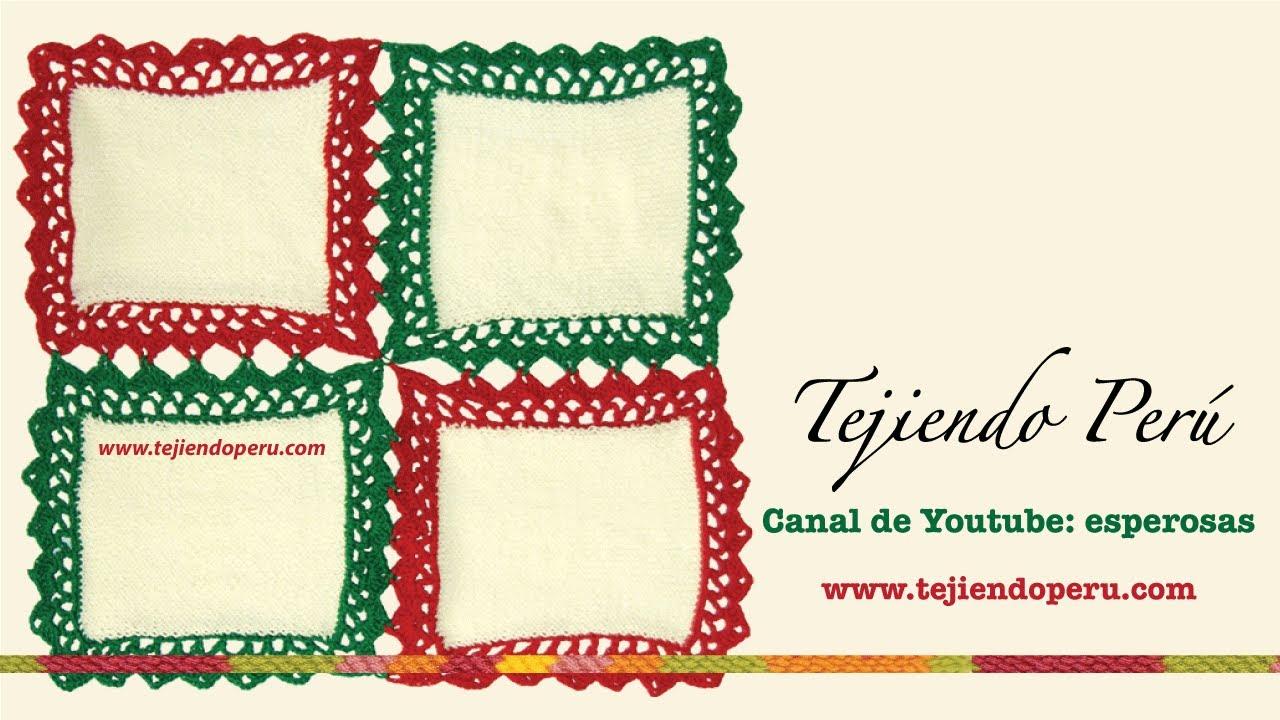 C mo hacer manteles o caminos de mesa uniendo cuadrados con borde a crochet youtube - Ideas para hacer manteles ...