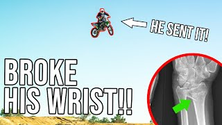 Totaled his BIKE & Sent him to the HOSPITAL!