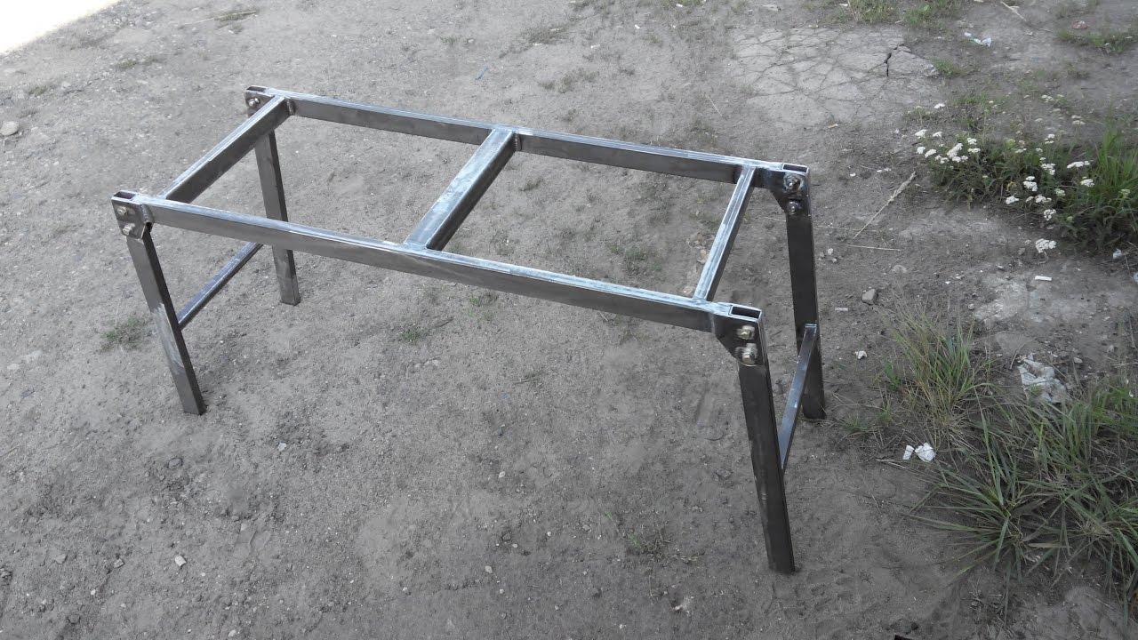 Разборные металлический стол своими руками 80