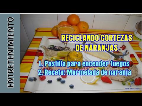 Reciclar Corteza NARANJAS: Pastilla ecológica para encender la barbacoa + receta mermelada