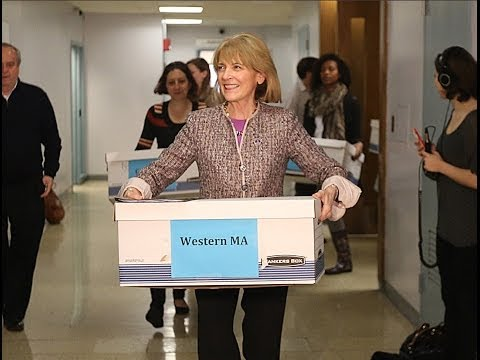 Martha Coakley files signatures in support to run for governor.