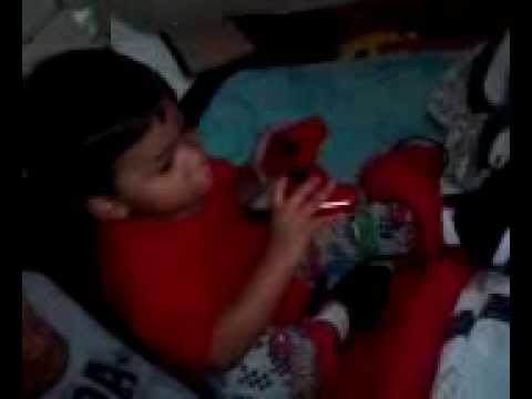 Little Boy Saids Fuck You And Playing Ps3 video