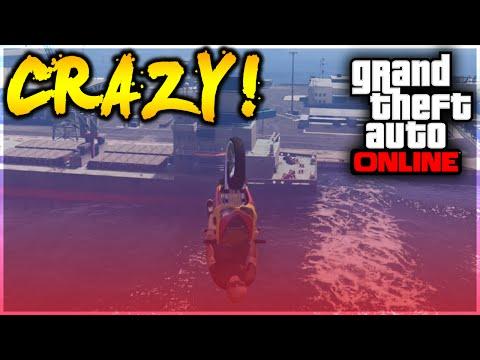 GTA 5 Stunts - OMFG! Crazy Bati 801 Boat Landing Stunt! (GTA 5 Stunt Challenge)
