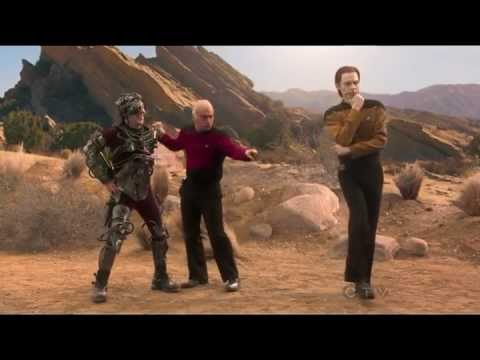 The boys had a star trek photo shoot- The Big Bang Theory S6x13