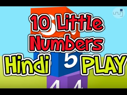 10 Little Numbers with Hindi Subtitles - Nursery Rhymes