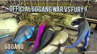 ARK OFFICIAL ONE OF THE BIGGEST (LEGIT) WAR ON XBOX! (60 GANG vs FURY)