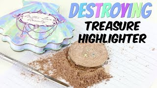 THE MAKEUP BREAKUP - Destroying, weighing & re-pressing the Bitter Lace Beauty Treasure Highlighter