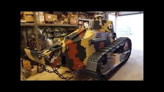 World War 1 Tank FT17 Renault Restoration Track Installation