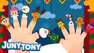 Christmas Finger Family | Christmas Songs for Kids | Finger Plays | Preschool Songs | KizCastle