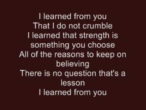 Hannah Montana - I Learn From You