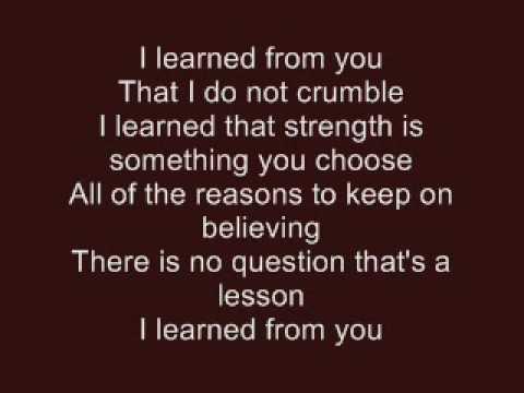 Hannah Montana - I Learned From You