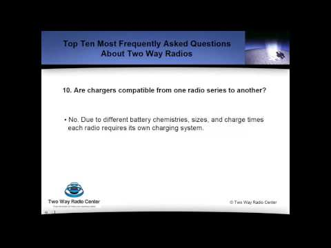 Are two way radio charges compatible with other radios?
