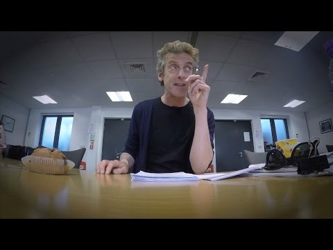 Peter Capaldi smashes it at the read-through - Doctor Who: Series 9 (2015) - BBC