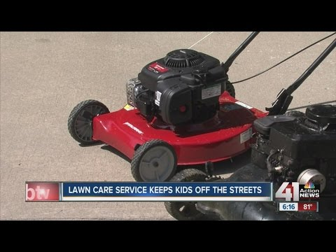Lawn care service keeps kids off the streets