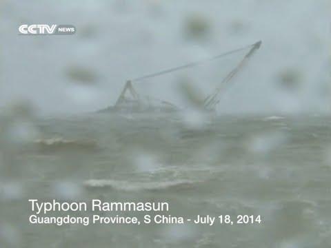 Super Typhoon Rammasun sweeps through south China city