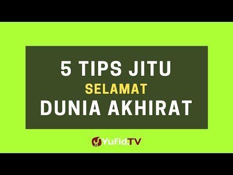 5 Tips Selamat Dunia Akhirat – Poster Dakwah Yufid TV