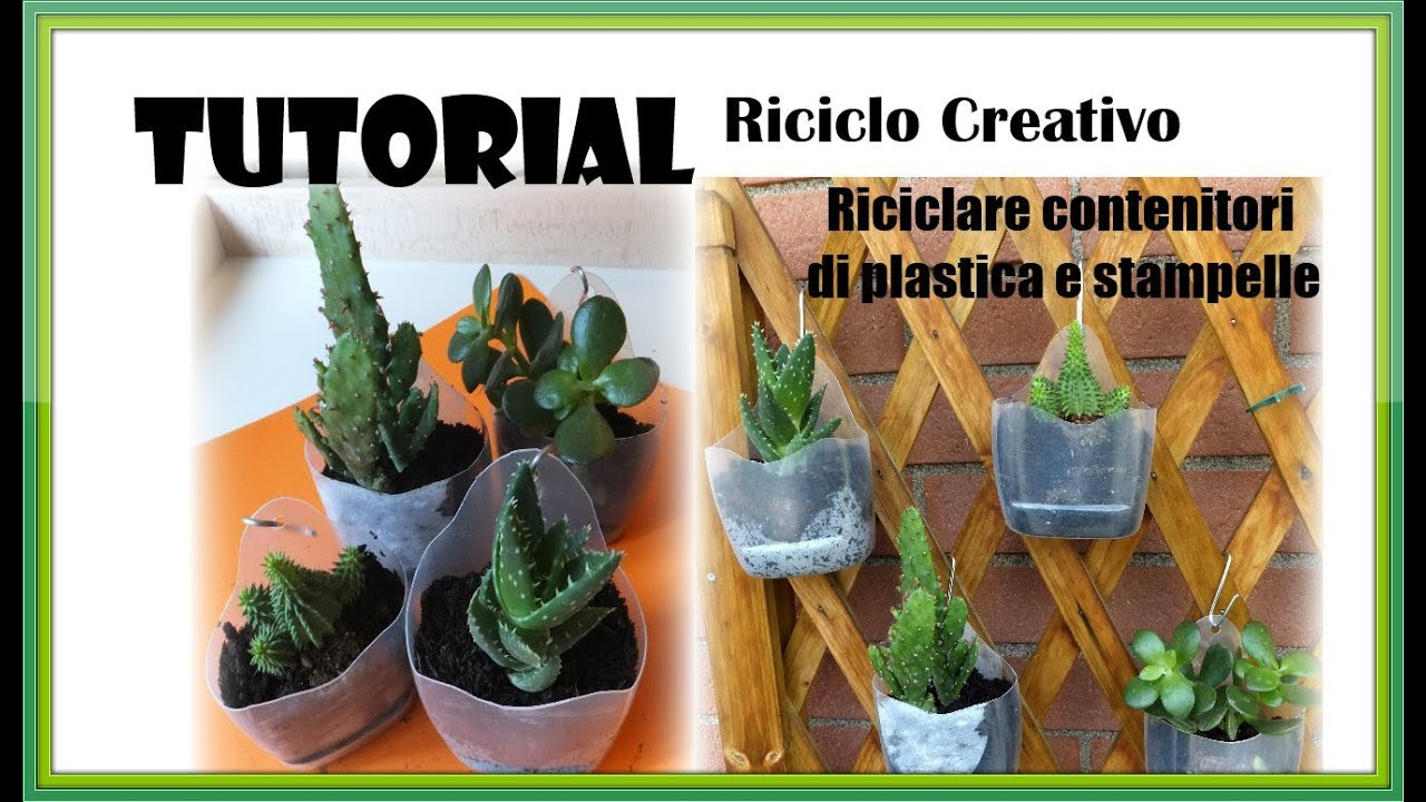 Tutorial riciclo creativo come riciclare contenitori di for Cassette di plastica riciclo
