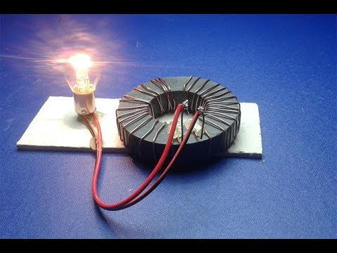 Free energy magnets  with light bulb 12v thumbnail