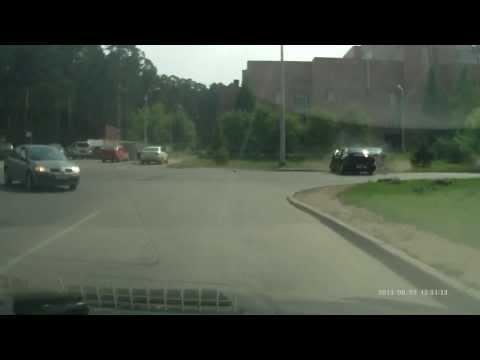 Обгон на перекрёстке .