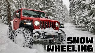 We Go Snow Wheeling in our Jeep Wrangler JLU Rubicon & Test the Milestar Patagonia Tires!