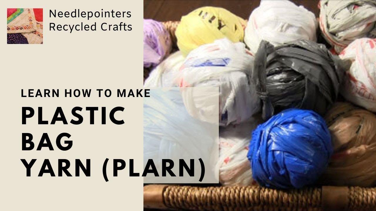 Plastic Bag Yarn Plarn How To Tutorial Youtube
