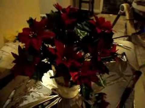 Artes y manualidades como hacer un centro de mesa for Centros navidad para mesa