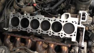 How to clean BMW Block and cylinder head or any gasket surface on any car !!!