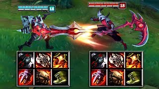 AATROX vs KAYN FULL BUILD FIGHTS & Best Moments!
