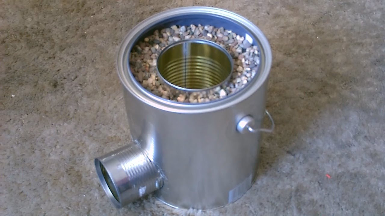 Homemade TIN CAN Rocket Stove - DIY Rocket Stove - Awesome Stove