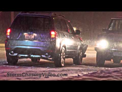 12/19/2012 Madison, WI winter storm and crashes