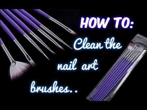 How to: clean the nail art brushes - Come pulire i pennelli da Nail art