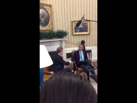 Enda Kenny meets US President Barack Obama in Oval Office