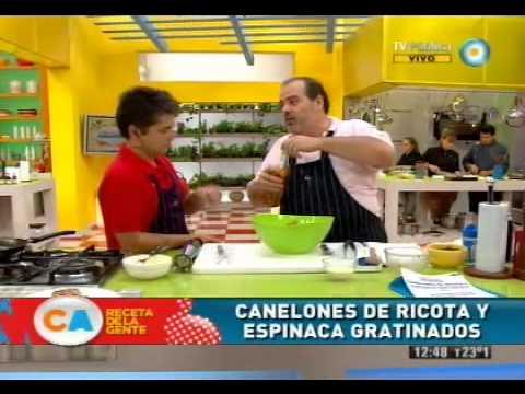 Canelones de ricota y espinaca gratinados, la receta de la gente
