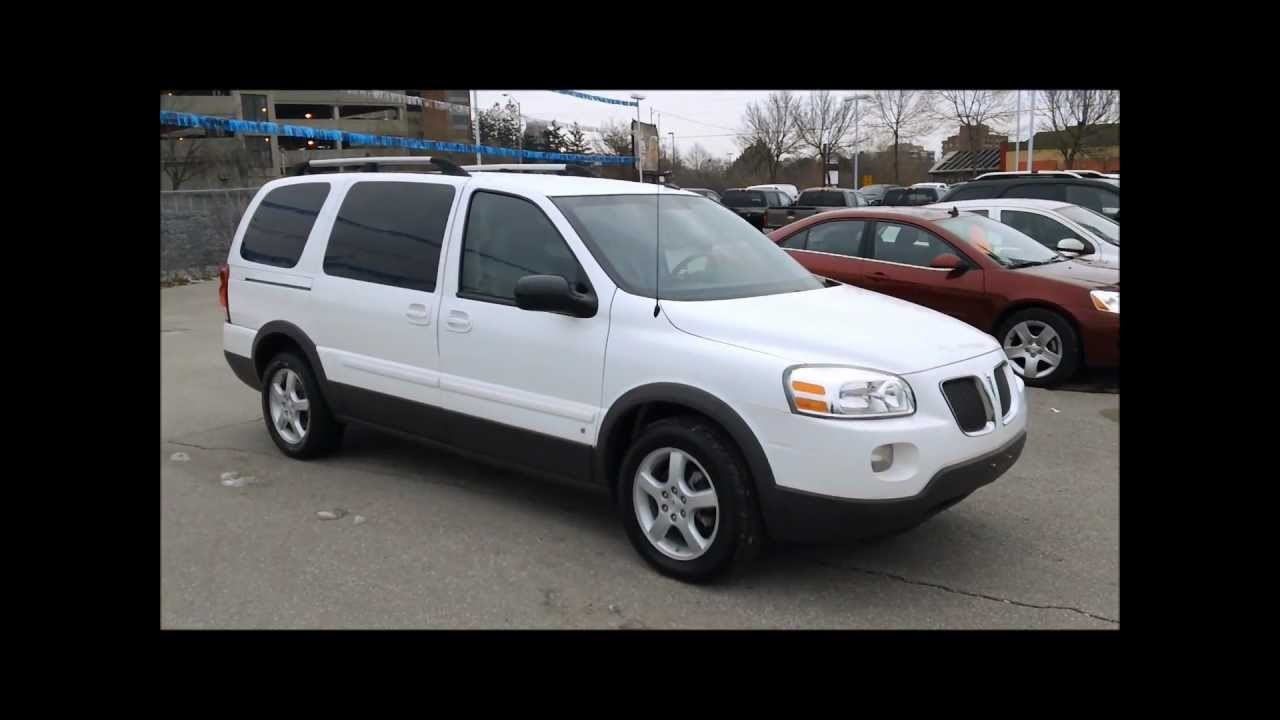 2008 Pontiac Montana Sv6 68851kms For Sale In Oshawa Youtube