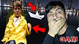 DO NOT PLAY WITH GEORGIE BOAT IN THE WATER AT 3AM!! *OMG HE CAME TO TAKE IT BACK*