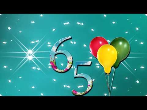 Красивая открытка 65 лет 32